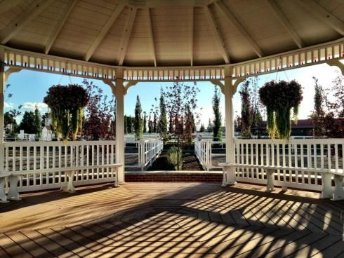 Beautiful #gazebo at Spruce Meadows in Calgary. From my blog Midwestern Belle.