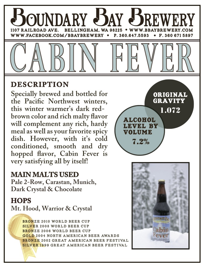 image of Cabin Fever sourced from Boundary Bay Brewing's Pinterest page