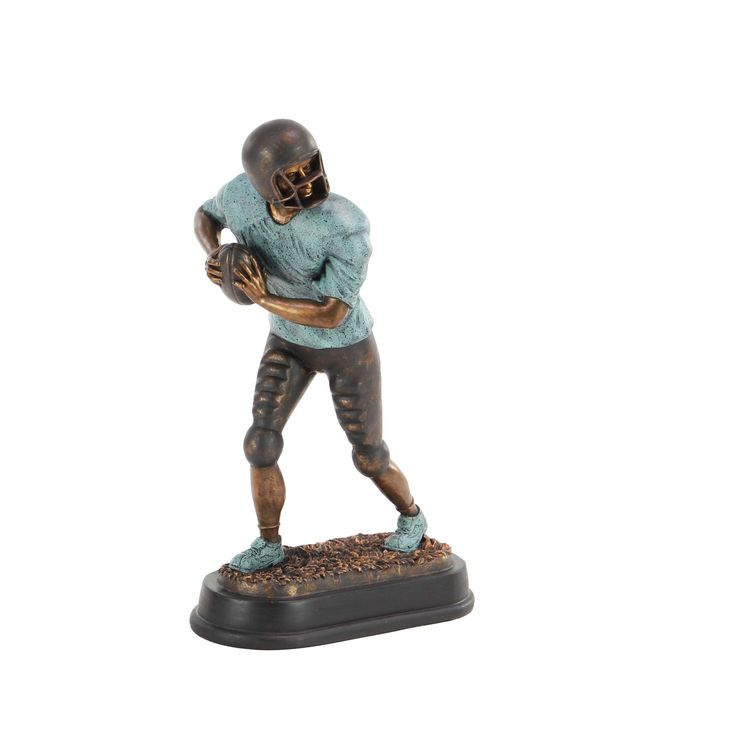 Studio 350 Modern Ceramic Standing Football Player Sculpture