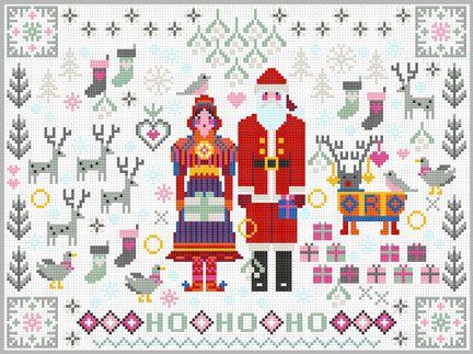 Santa & Mrs Claus Cross Stitch Kit | sewandso