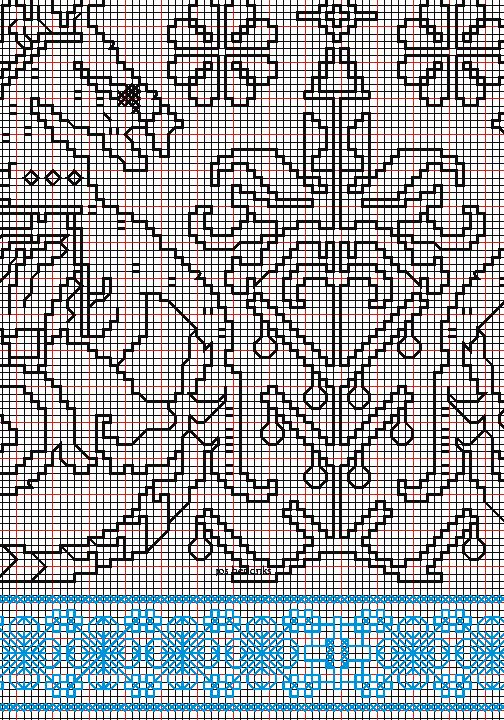 "working drawing 6 for Assisi embroidery design ""sea square"""