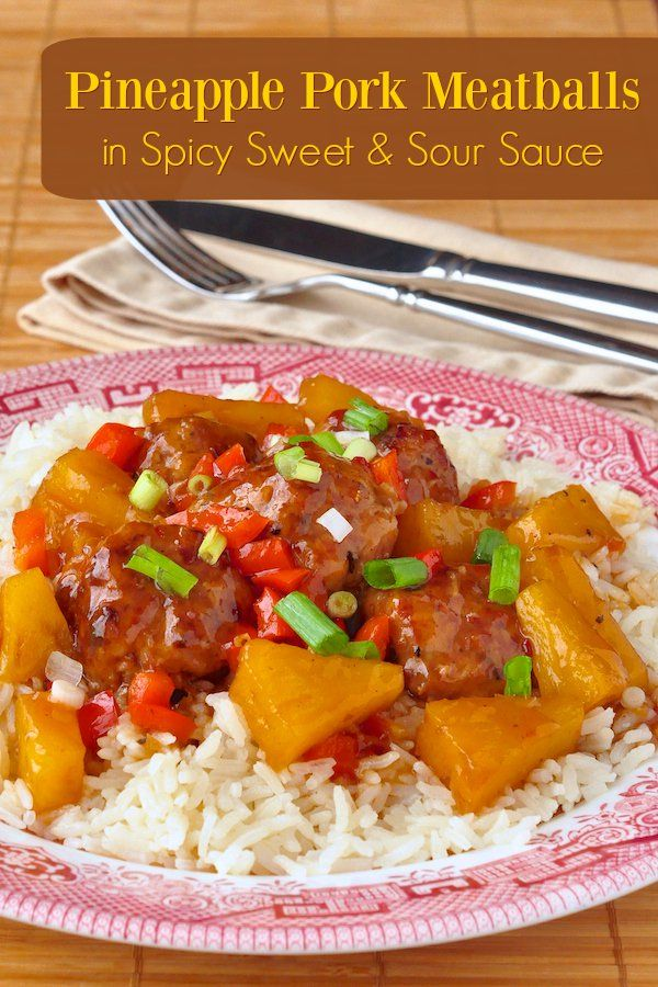 seasoned all pork meatballs in an easy to prepare, sweet and sour ...
