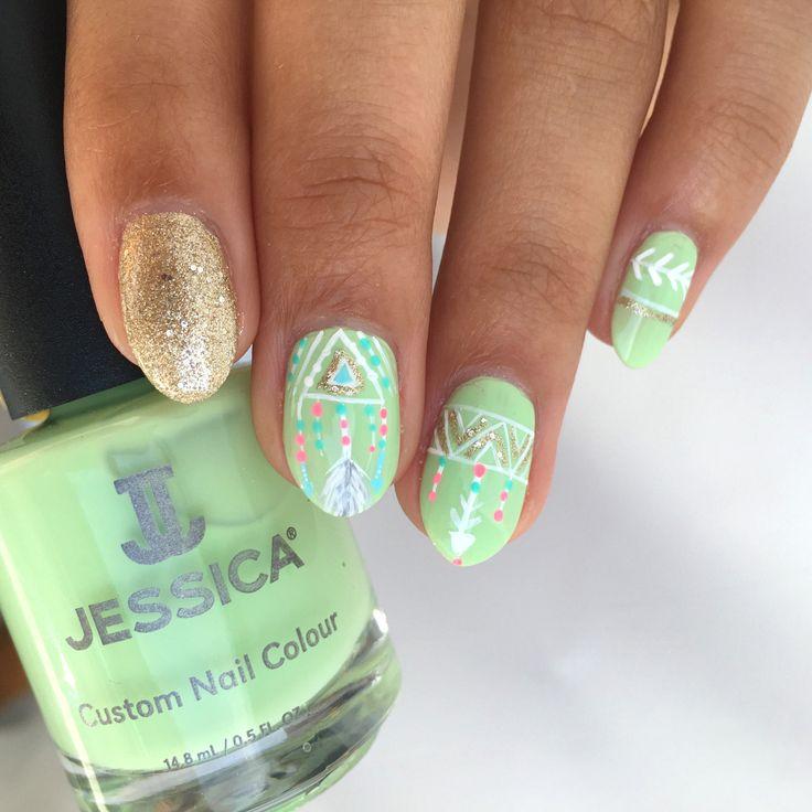73 best Festival Nails images on Pinterest | Gel polish, Gel nail ...