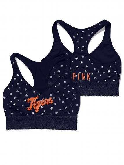 PINK Detroit Tigers Lace Yoga Bra #VictoriasSecret http://www.victoriassecret.com/pink/detroit-tigers/detroit-tigers-lace-yoga-bra-pink?ProductID=106177=OLS=true?cm_mmc=pinterest-_-product-_-x-_-x