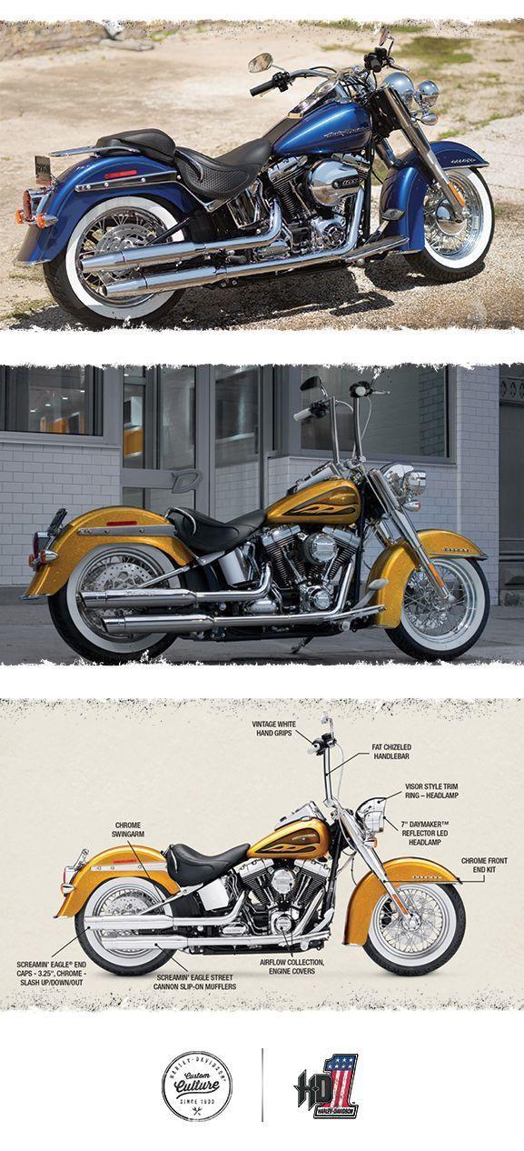 Countless Nostalgic Touches 2016 Harley Davidson Softail Deluxe Harleydavidsonbagger Softail Deluxe Harley Davidson Motorcycles Softail