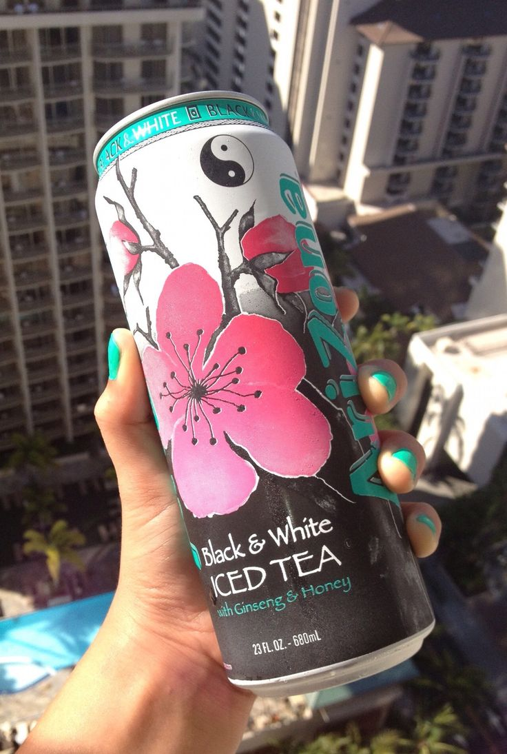 Arizona Drinks cans - Black & White Iced Tea (x2)