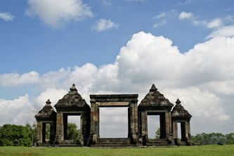 candi ratu boko.  (location: jogjakarta, central java, indonesia)