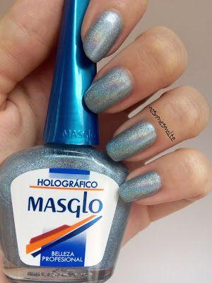 No sin mi esmalte: Manicura florar holográfica -Masglo-