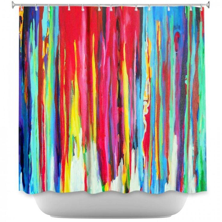 Jackie Phillips's 'Neon Abstract' | Shower Curtains Artistic Decorative Designer Unique