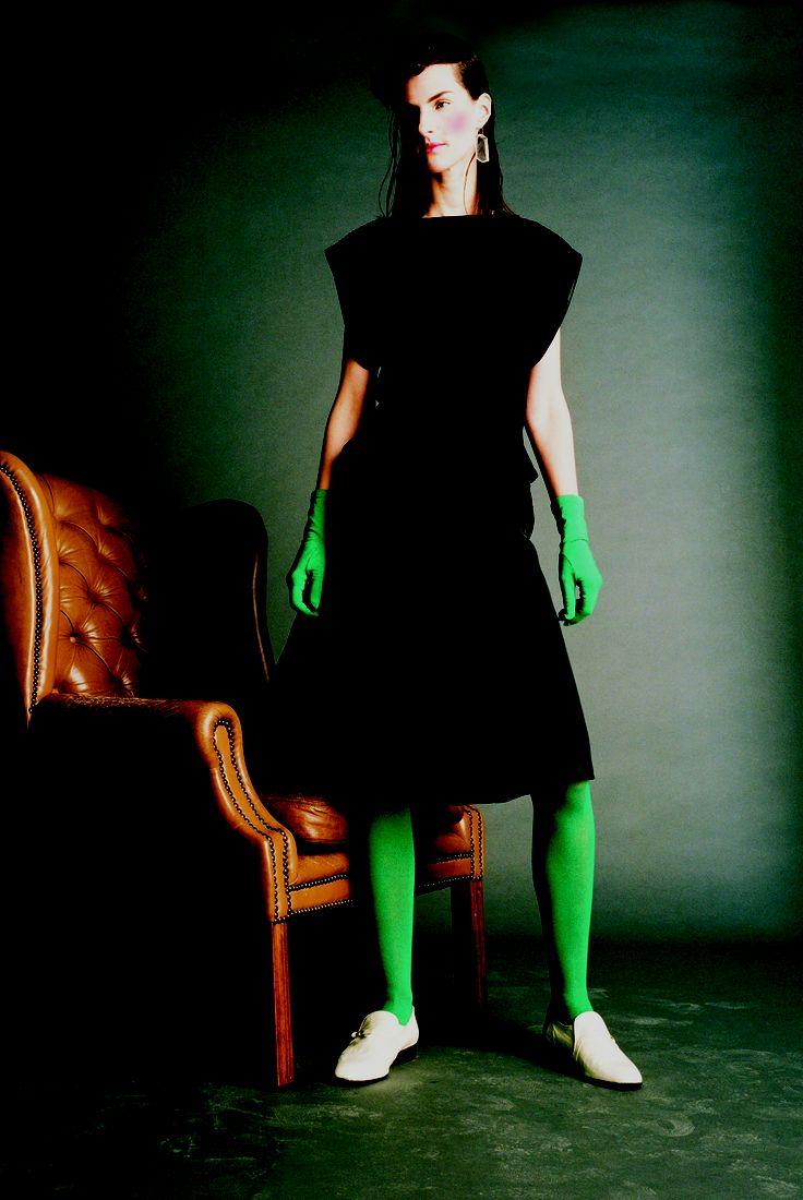 Dress | Perspex Heeled Leather Broques  |Perspex Earring all JOANNE HYNES 2001