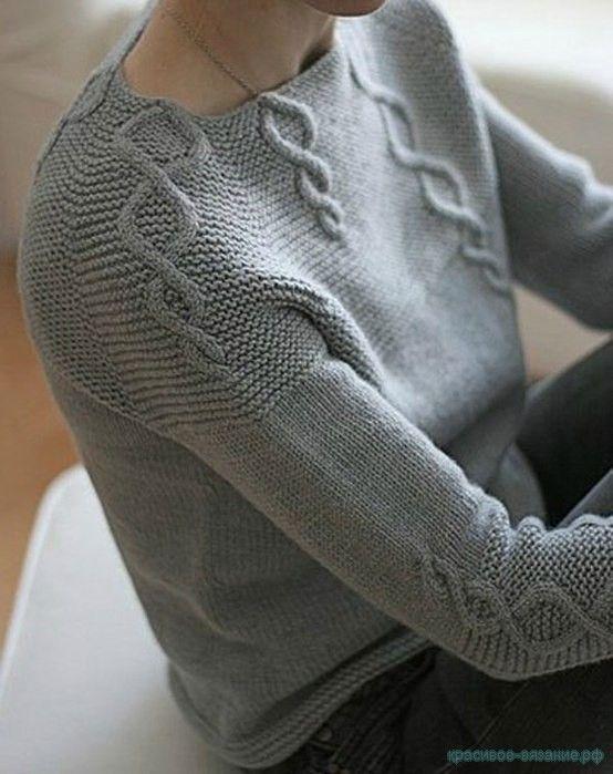 Вязание спицами для женщин Описание вязания женской кофты регланом сверху Картинки увеличиваются при нажатии.…