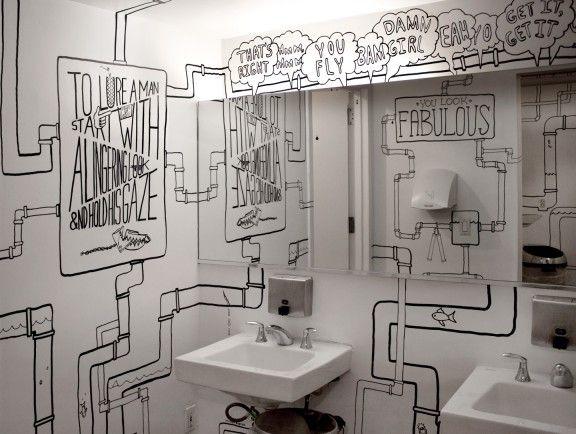 Public Bathroom Wall Art