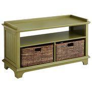 Holtom Storage Bench - Moss Green