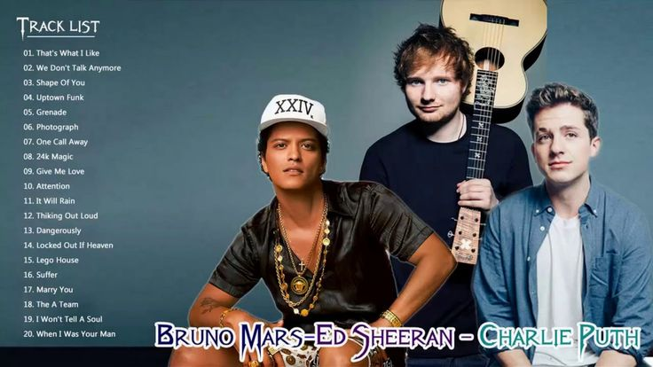 Bruno Mars, Ed Sheeran, Charlie Puth Greatest Hits Collection - Best Pop Playlist Songs 2018 - YouTube