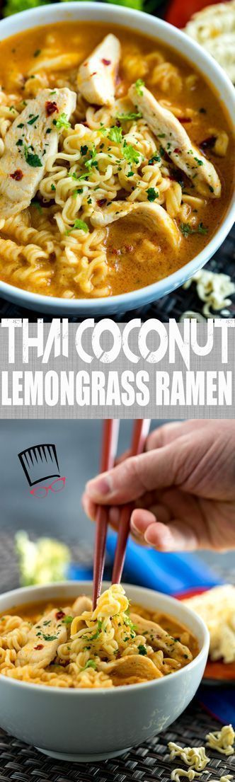 Thai Coconut Lemongrass Ramen Soup Recipe | Comfort Food | Fall Food | Soup Recipe | Dinner | Lunch