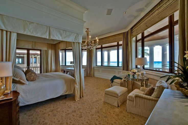 Another bedroom in the Grand Cayman luxury home .. The built in canopy from the ceiling is very interesting!: Luxury, Beach House, Idea, Window, Cayman Islands, Dream House, Master Bedrooms, Homes, Design