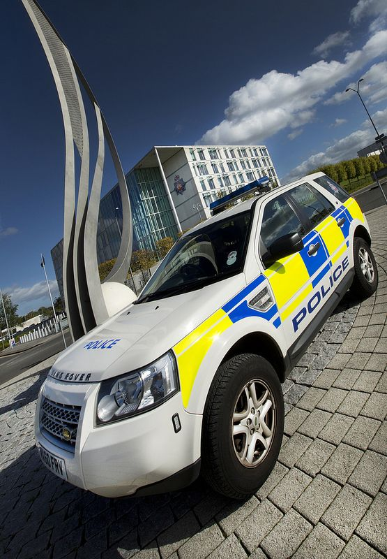 Greater Manchester Police Land Rover 4x4.