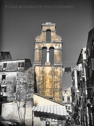 GOLDEN AGE Old Greek Church. Corfu Town Corfu Greece.