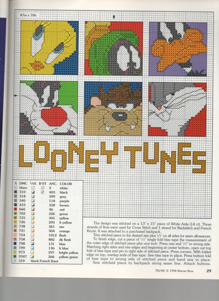 LOONEY TUNES WASTE CANVAS