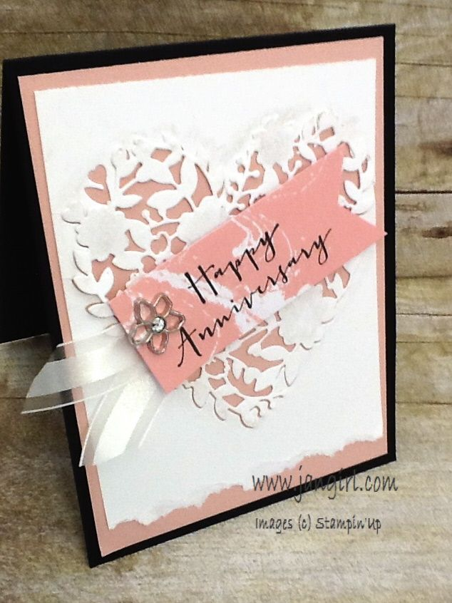 wedding anniversary card pictures%0A Jan Girl  Stampin u     Up Bloomin u     Heart die and Love Blooms cards and  Valentine treat box