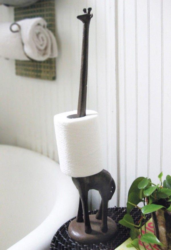 40 Cool & Unique Toilet Paper Holders.love the giraffe idea..