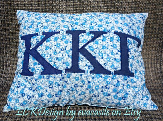 Kappa Kappa Gamma Sorority decorative pillow