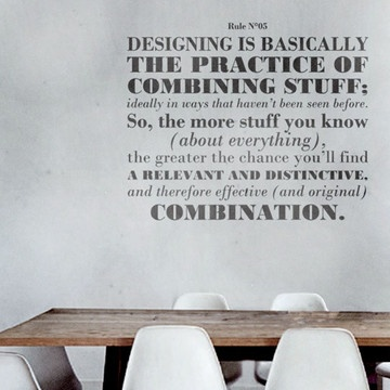 Design Rule No. 5 Decal, 94€, now featured on Fab.