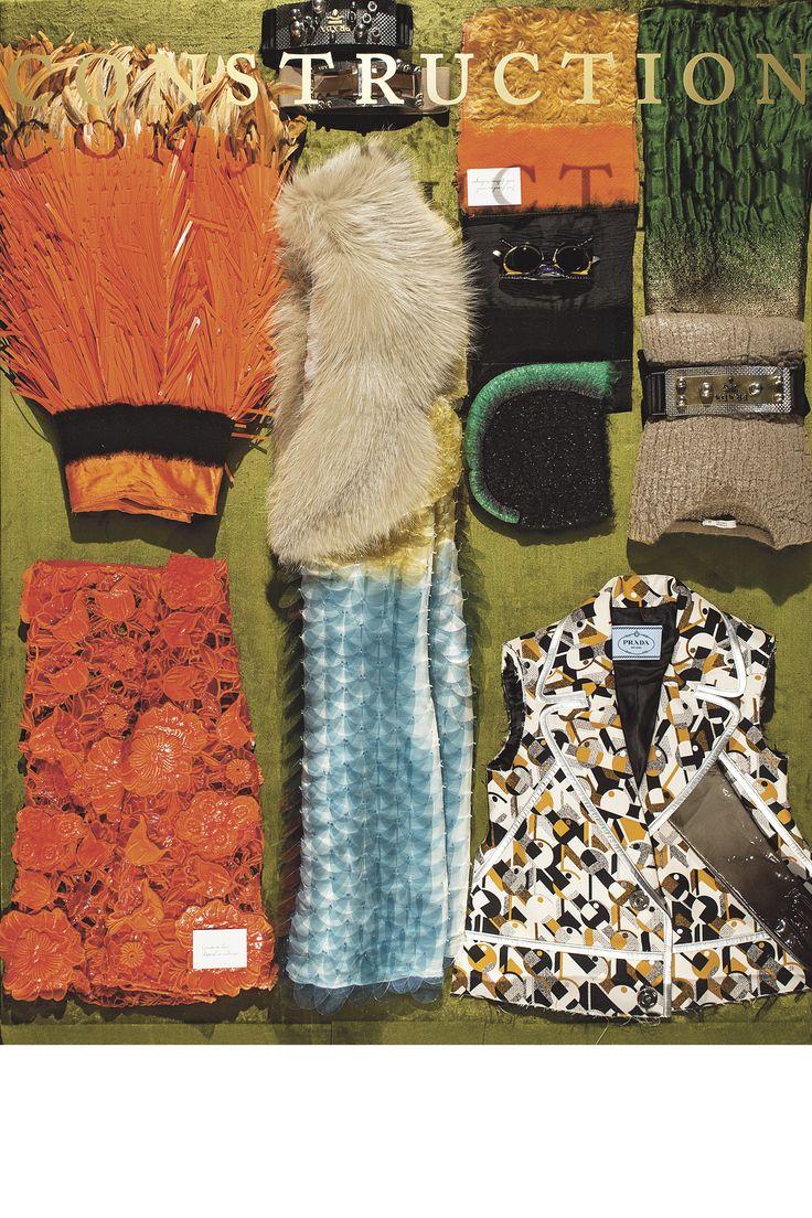 More of Prada's lush furs, supersized paillettes and manipulated fabrics.   - HarpersBAZAAR.com