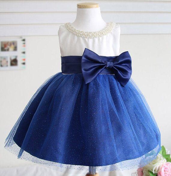 Océano azul bebé desfile vestido, desfile infantil, vestido de cumpleaños para niñas, vestido de niña de las flores, XR0008