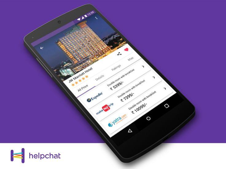 Helpchat - Hotel Deals Screen