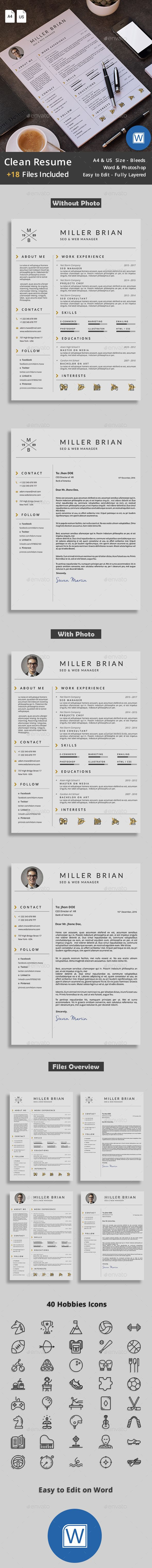 Resume - #Resumes #Stationery Download here: https://graphicriver.net/item/resume/18518640?ref=alena994