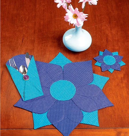 Placemat, Coaster  and Silverware Case