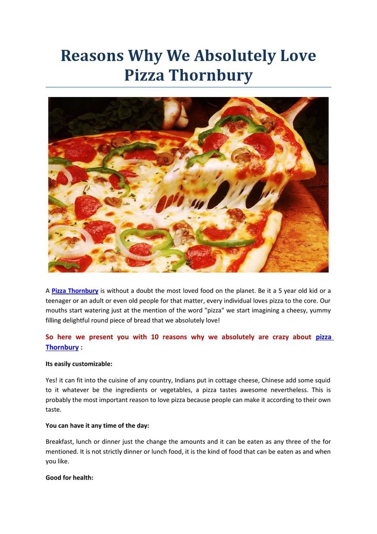 Reasons why we absolutely love pizza thornbury