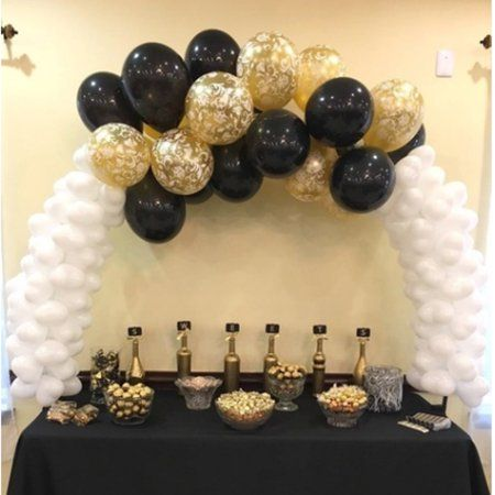 Large Glass Fiber Table Balloon Arch Kit For Birthday Decorations Table Ballon Arch for Wedding Decorations Party Decorations Christmas Decor, Clear