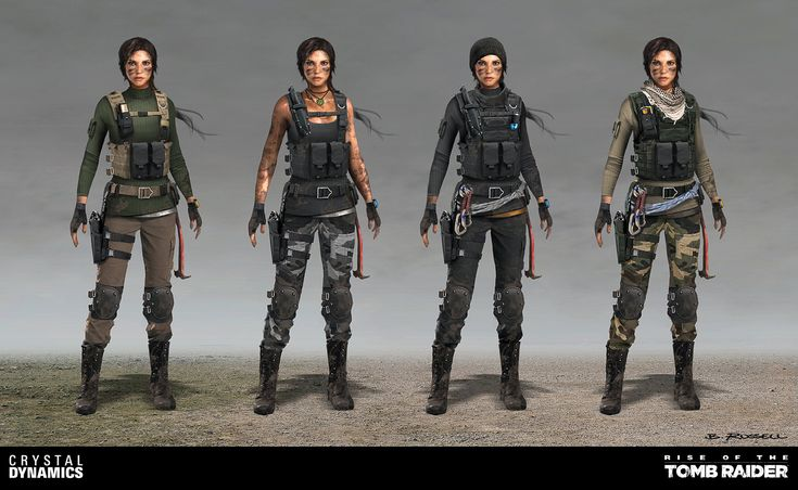 ArtStation - Rise of the Tomb Raider-Lara DLC Outfits, Brandon Russell