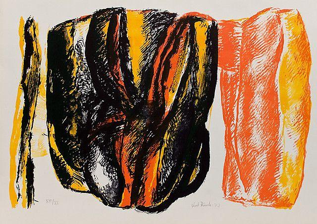 Knut Rumohr  U.t. litografi, 52x73 cm