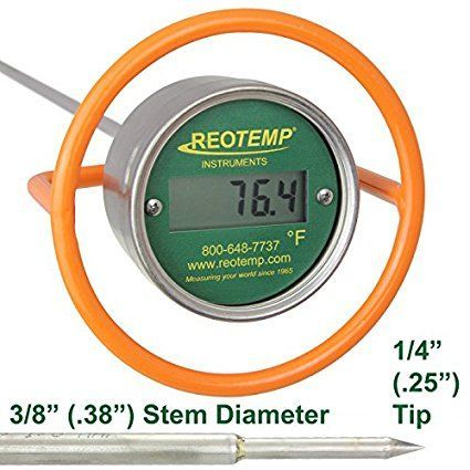 """REOTEMP DC36FRF Super Duty Digital Compost Thermometer with Fast Response - 36"""" Stem, Fahrenheit"""