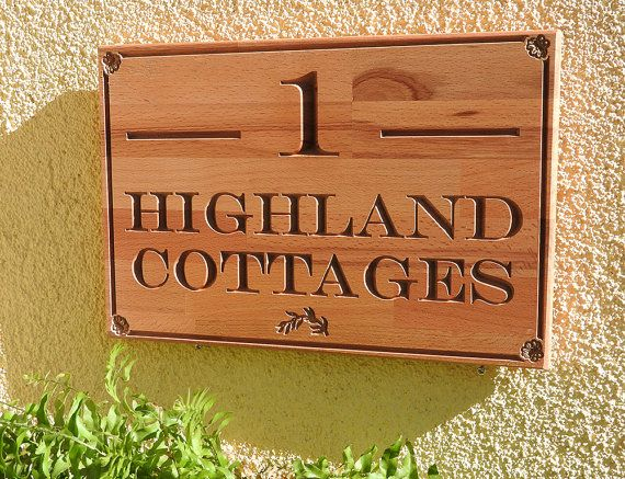 Personalised House Sign Carved wooden sign by MikesFineDesigns
