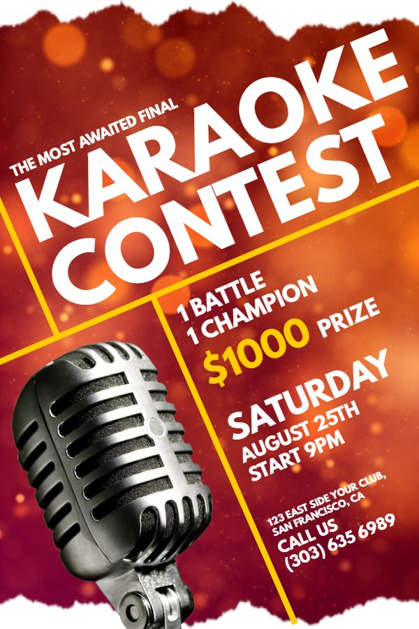 competition flyer template