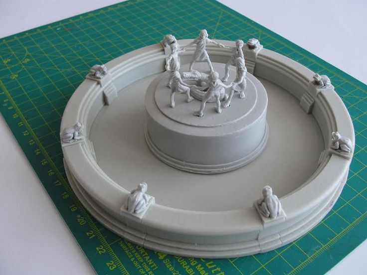 Hello  Something different today. A preview of a new terrain piece inspired by famous Children's Khorovod fountain from Stalingrad, better known as Barmaley Fountain. We will make other terrain models inspired by historical originals. Would You like us to do something specific? Please comment, we are very interested in your opinions and suggestions.