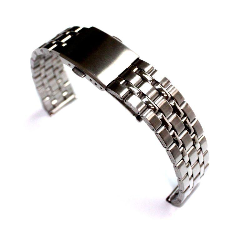 Banda donne WB1034A18SB Uomini 18 millimetri Lucido + Matt nuovo orologio in acciaio inossidabile