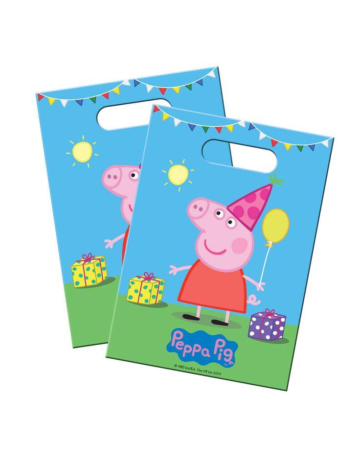 Lotto di 8 Sacchetti per caramelle Peppa Pig™ su VegaooParty, negozio di articoli per feste. Scopri il maggior catalogo di addobbi e decorazioni per feste del web,  sempre al miglior prezzo!