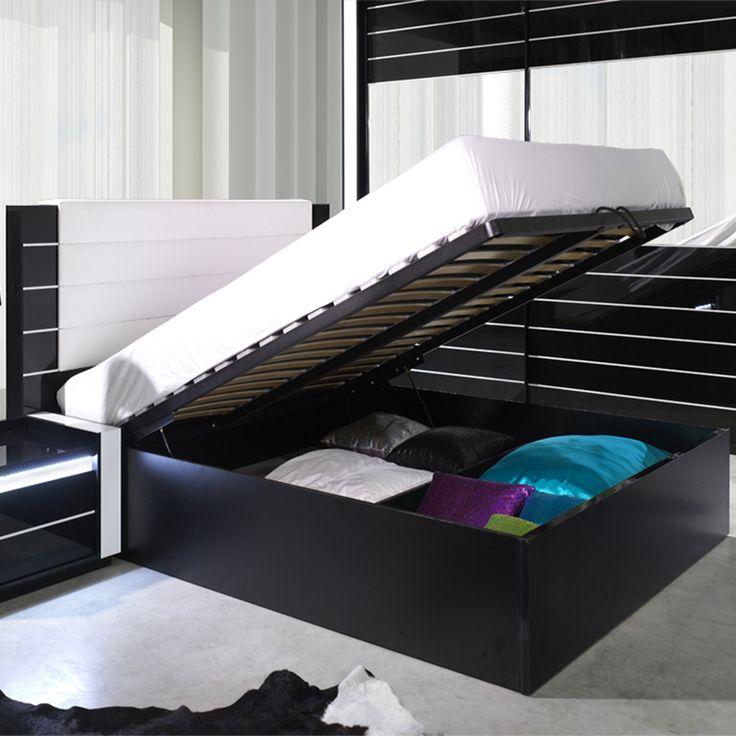 1000 id es sur le th me lit coffre sur pinterest lit coffre ikea lit adulte et lits gigognes. Black Bedroom Furniture Sets. Home Design Ideas