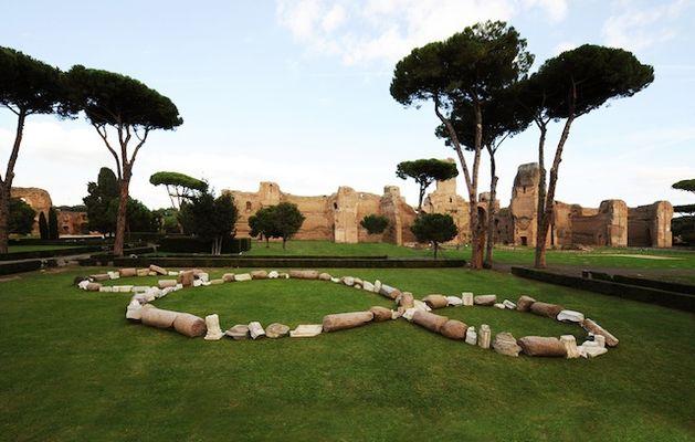 Michelangelo Pistoletto, terzo paradiso, terme di Caracalla, ROMA