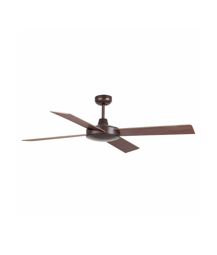 Ventilador de techo marr n mallorca ventiladores de - Motores de ventiladores de techo ...