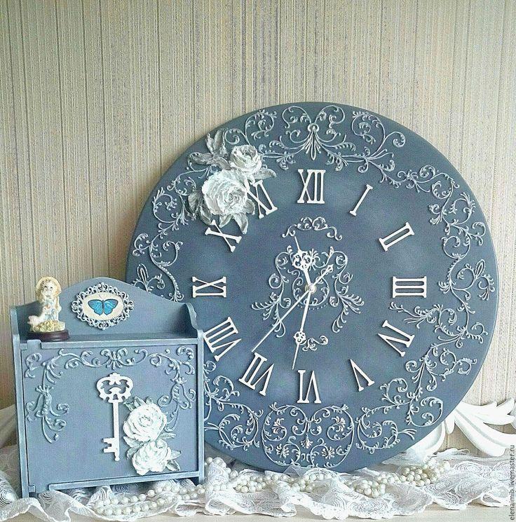 "Купить Часы настенные ""Веджвут"" - серый, часы, часы настенные, часы интерьерные"