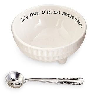 Shop for Mud Pie 4851076 Guacamole Serving Dish Set, White. Free Shipping on orders over $45 at Overstock.com - Your Online Kitchen