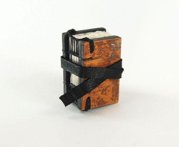 tree bark journal  small handmade wood book  by ThreeTreesBindery, $50.00