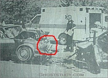 This is damn creepy  A face appeared in the wreckage of an accident  Ghost  Or just a case of paradolia