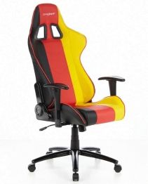Custom designed with vibrant German colours and radical red stitching, this elegant office chair will definitely suit all BMW, Audi, Mercedes, Porsche and VW fans.